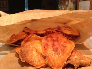 Sweet Potato Crisps Chips Healthy Snack