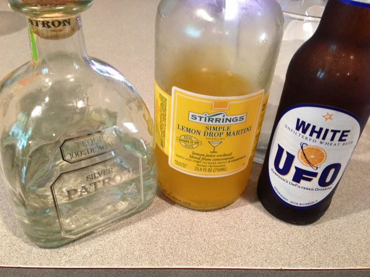 Tequila, Beer and Lemon Drop Ingredients for this fantastic new cocktail