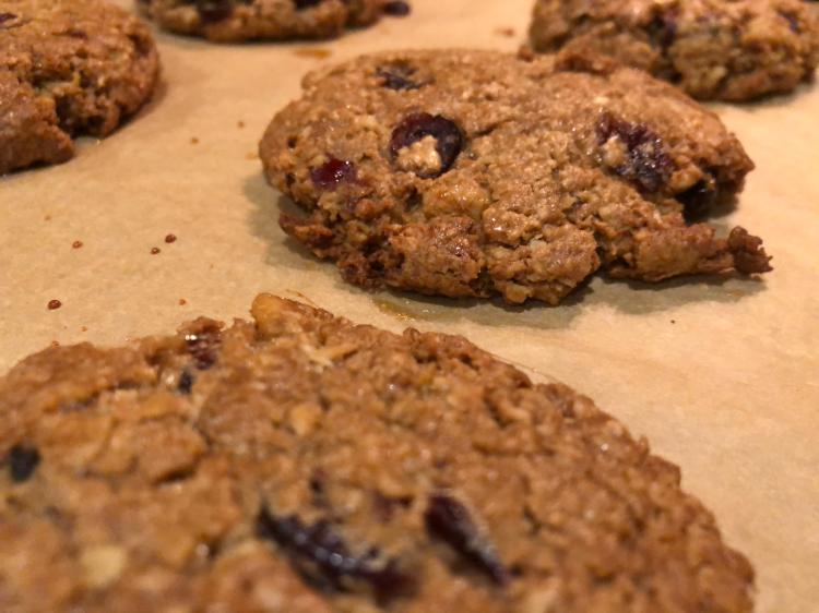 GF Oatmeal Craisin Cookies